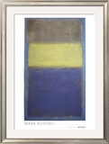 No. 2/No. 30  (Yellow Center) Limited Edition Framed Print by Mark Rothko
