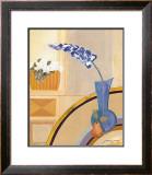 Blaue Vase Print by Juliane Jahn
