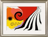 Pinwheel and Flow, c.1958 Print by Alexander Calder