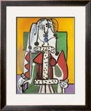 Woman Seated on a Green Chair Prints by Pablo Picasso