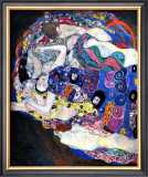 The Maiden Framed Giclee Print by Gustav Klimt