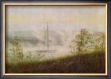 Elbe Skiff in the Morning Mist Framed Giclee Print by Caspar David Friedrich
