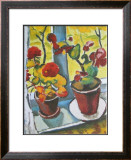 Flowers at the Window, Begonias Art by Auguste Macke