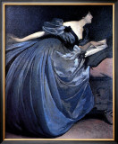 Althea Reading in Blue Dress Print by John White Alexander