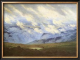 Scudding Clouds Framed Giclee Print by Caspar David Friedrich
