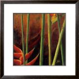 Heliconias en Naranja I Prints by Patricia Quintero-Pinto