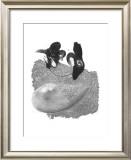 Two Human and a Balloon Prints by Ryuichirou Motomura