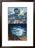 Sea and Clouds Print by Max Beckmann