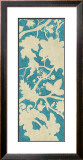 Linen Silhouette on Teal I Prints by Chariklia Zarris