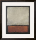Dark Brown with Grey and Orange Prints by Mark
