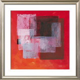 Transparence on Red Poster by Valerie Roy