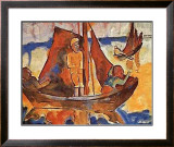 Fishing Boats Prints by Karl Schmidt-Rottluff