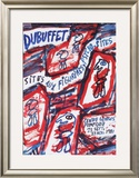 Sites aux Figurines Psycho-Sites Print by Jean Dubuffet