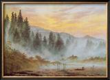 Morning Framed Giclee Print by Caspar David Friedrich