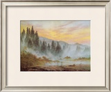 Morning Framed Giclee Print by Caspar David Friedrich