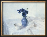 Pansies in a Blue Vase Posters by Arthur Easton