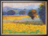 Sunflowers in Provence Print by Gail Wells-Hess