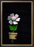 Daisy Flower Pot Framed Giclee Print by Stephen Lebovits