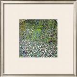 Garden Landscape with Hilltop Framed Giclee Print by Gustav Klimt