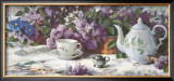 Teapot and Lilacs Art by Richard Boyer
