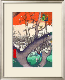 Plum Garden at Kameido Framed Giclee Print by Hiroshige II