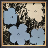 Flowers, c.1965 (Blue, Ivory) Print by Andy Warhol