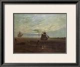 Evening by the Baltic Framed Giclee Print by Caspar David Friedrich