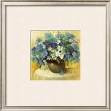 Blaue Blumen Serie Prints by R. Bertram