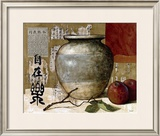 Chinese Ceramic with Apples Posters by Pascal Lionnet