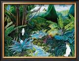 Iao Valley Framed Giclee Print by Ari Vanderschoot