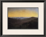 Riesengebirge Framed Giclee Print by Caspar David Friedrich