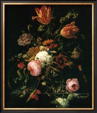 Flower in a Crystal Vase Art by Abraham Mignon