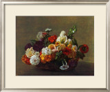 Flowers in a Basket Prints by Henri Fantin-Latour
