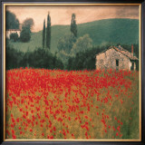 Poppies II Print by Barbara Carter