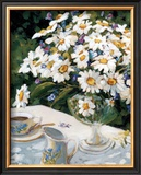 Breakfasting with Daisies Prints by Liliane Fournier