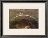 Mountain Landscape with Rainbow Framed Giclee Print by Caspar David Friedrich