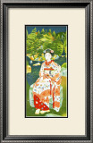 Japanese Woman in Kimono Framed Giclee Print