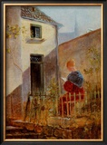 Im Hausgarten Garden Posters by Carl Spitzweg