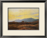 Ruins of Eldena Abbey and the Riesengebirge Framed Giclee Print by Caspar David Friedrich
