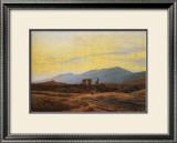 Ruins of Eldena Abbey and the Riesengebirge Framed Giclee Print by Caspar David Friedrich