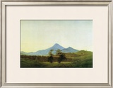 Bohemian Landscape Framed Giclee Print by Caspar David Friedrich