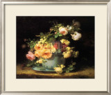 Roses in a Porcelain Bowl Prints by Emile Vouga