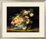 Roses in a Porcelain Bowl Prints by Emile Vouga
