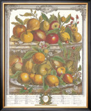Twelve Months of Fruits, 1732, April Posters by Robert Furber