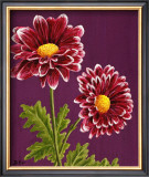 Purple and White Chrysanthemums Art by Elise Ferguson