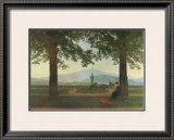 Garden Terrace Framed Giclee Print by Caspar David Friedrich