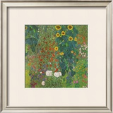Farm Garden with Sunflowers, 1905 Print by Gustav Klimt