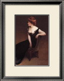 Woman Reclining in Black Dress Posters by John White Alexander
