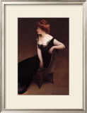 Woman Reclining in Black Dress Prints by John White Alexander