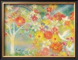 The Dream Is Made to Bloom, Flower of Rainbow Framed Giclee Print by Miyuki Hasekura